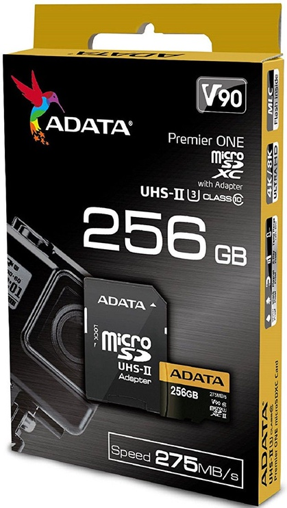 Adata 256GB Premier One microSDXC Class 10 UHS-II U3 + Adapter