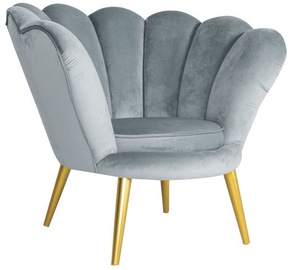 Signal Meble Magnolia Velvet Armchair Grey/Gold
