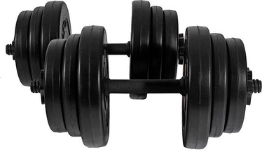 Xylo Bitumen Dumbells 2x10kg Black