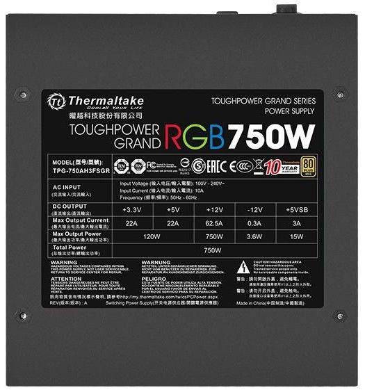 Thermaltake Grand RGB Sync PSU 80 Plus Gold 750W