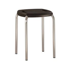 Valgomojo kėdė - taburetė, Boom Chrome K02, juoda