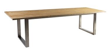 Dārza galds Home4you Nautica Teak, 280 x 100 x 76 cm