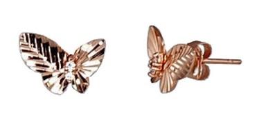 Diamond Sky Gold Earrings Golden Butterfly VI