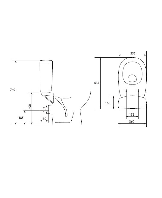FLOOR WC ARTECO AR SOFT CLOSE (CERSANIT)