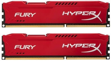 Kingston 8GB DDR3 PC14900 CL10 DIMM HyperX Fury Red Series KIT OF 2 HX318C10FRK2/8