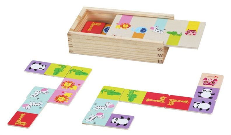 Lavinamasis žaidimas, Domino laukiniai gyvūnai, medinis