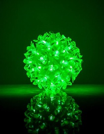 EV LED 50 Ball with Flowers Green D11cm
