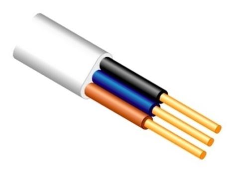 Elektros instaliacijos kabelis Lietkabelis BVV-P, 3 x 1,5 mm²