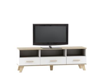 TV staliukas Halmar Molda RTV2 Sonoma Oak/White, 1600x400x530 mm