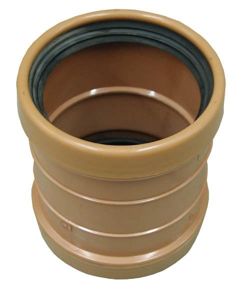 Dubultuzmava PVC āra.kan. 110 brūna (Wavin)