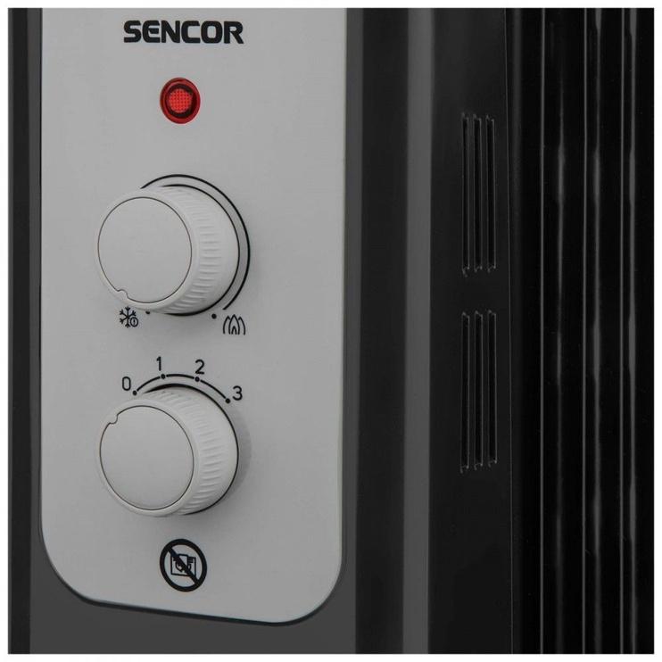 Масляный нагреватель Sencor SOH 3311BK, 1000 Вт