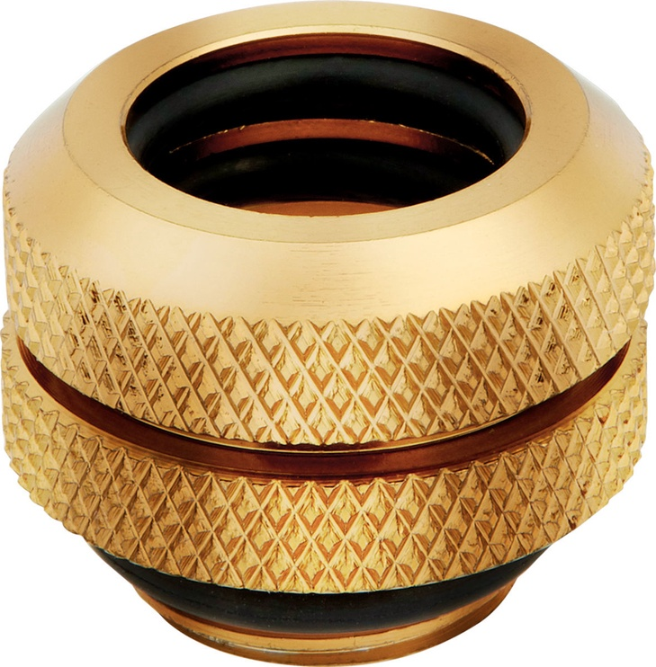 Corsair Hydro X Series XF Hardline 12mm OD Fitting Four Pack Gold