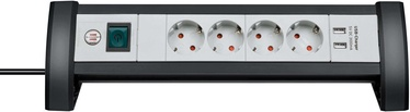 Brennenstuhl Premium-Protect-Line Extension Sockets With Surge Protection/USB Charger 6way 3m