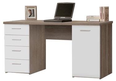 Rašomasis stalas su stalčiais ir spintele, 145 x 76,3 x 60 cm