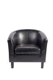 Fotelis HY-9030, dirbtinės odos, juodas