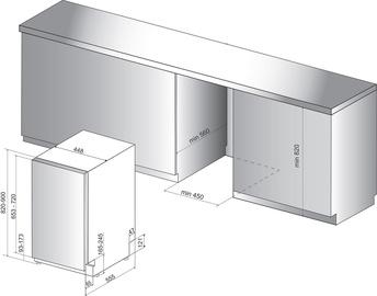 Iebūvējamā trauku mazgājamā mašīna Whirlpool Wsic 3M17