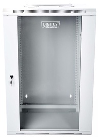 "Digitus Double Section Wall Cabinet 19"" 15U/600 mm Grey"