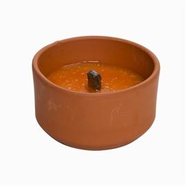 Žvakė nuo uodų keraminiame inde
