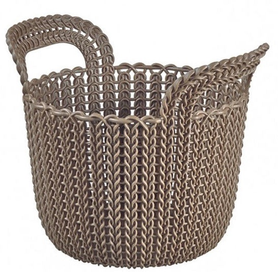 Curver Knit XS Round Basket Brown