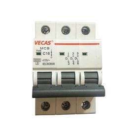 Automatinis jungiklis Vecas MCB, 3P, C, 16A, 6kA