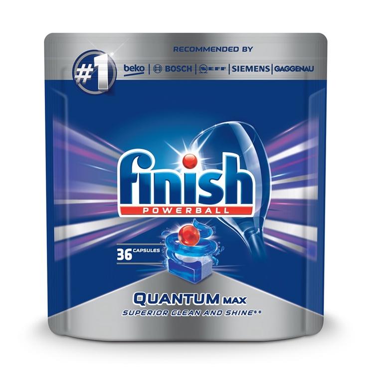 Капсулы для посудомоечной машины Finish Quantum Max, 36 шт.