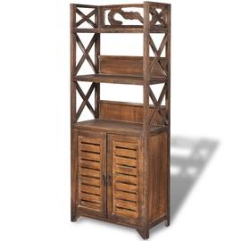 Шкаф для ванной VLX 242690, коричневый, 24 x 46 см x 117.5 см