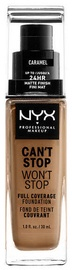 NYX Can't Stop Won't Stop Full Coverage Foundation 30ml Caramel