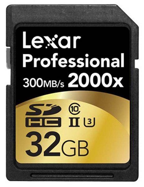 Lexar 32GB Professional SDHC 2000x + Reader