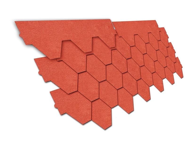 Покрытие Izohan 800 Bitumenious Tiles 3m2 Red