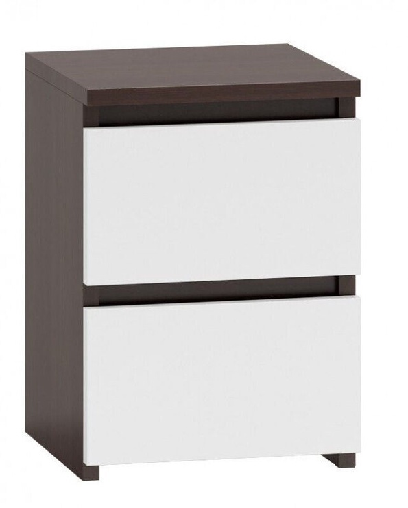 Naktinis staliukas Top E Shop M2 Malwa, rudas/baltas, 40x30x40 cm