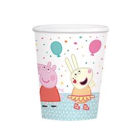 Popieriniai puodeliai Peppa Pig, 250 ml, 8 vnt.