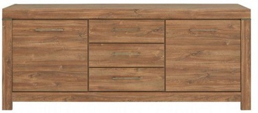 Komoda Black Red White Gent 85x200x45cm Stirling Oak