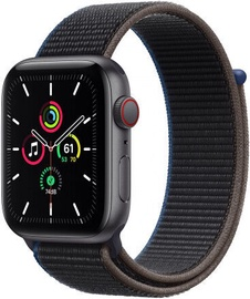 Apple Watch SE GPS 44mm LTE Space Gray Aluminum Charcoal Sport Loop