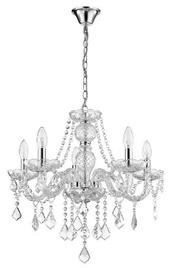 Light Prestige Cristallo 5 Hanging Lamp E14 5x60W Transparent