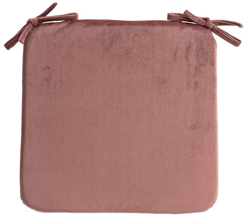 Home4you Velvet Chair Pad 39x39cm Pink