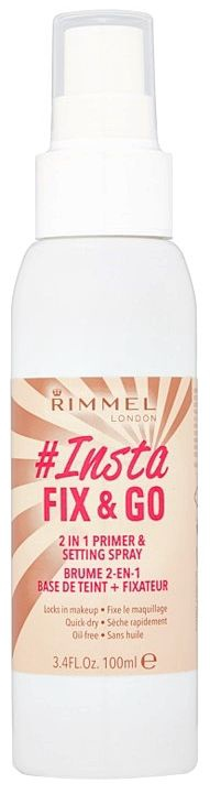 Rimmel London Insta Fix & Go 2 in 1 Primer & Setting Spray 100ml