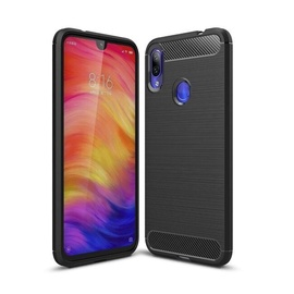 TakeMe Carbon Effect TPU Case For Xiaomi Redmi 7 Black