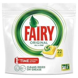 Trauku mazgājamās mašīnas kapsulas Fairy All in 1 Lemon, 22 gab.