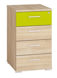 Komoda ML Meble Optimal 23 Sonoma Oak/Green