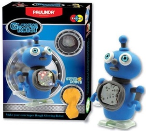Lipdymo masė Paulinda Moving Glowing Robot Blue 081484-3
