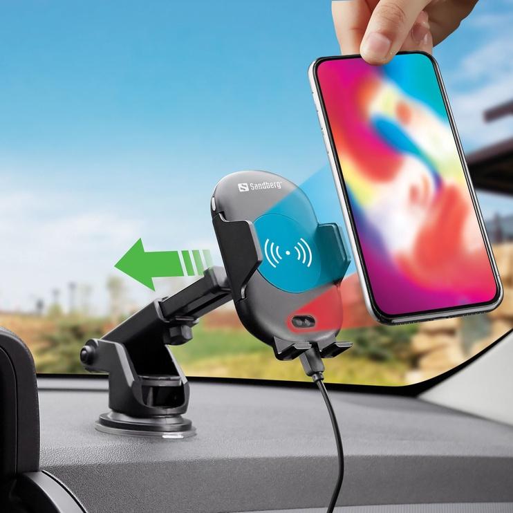 Telefono laikiklis Sandberg In Car Wireless Charger IR 10W