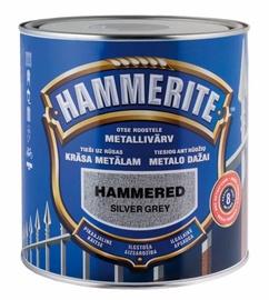 Metalo dažai Hammerite Hammered, pilki, 5 l