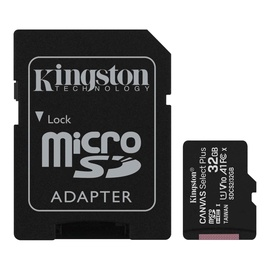 Atminties kortelė Kingston 32GB CL10 MicSDHC+adapteris