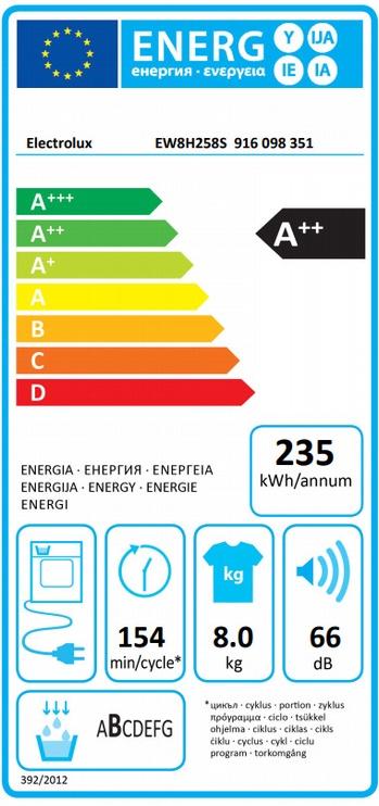 Džiovyklė Electrolux EW8H258S