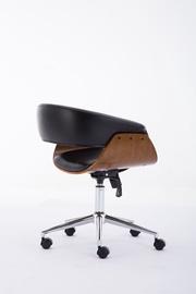 Офисный стул Top E Shop Swivel Coral, черный/ореховый