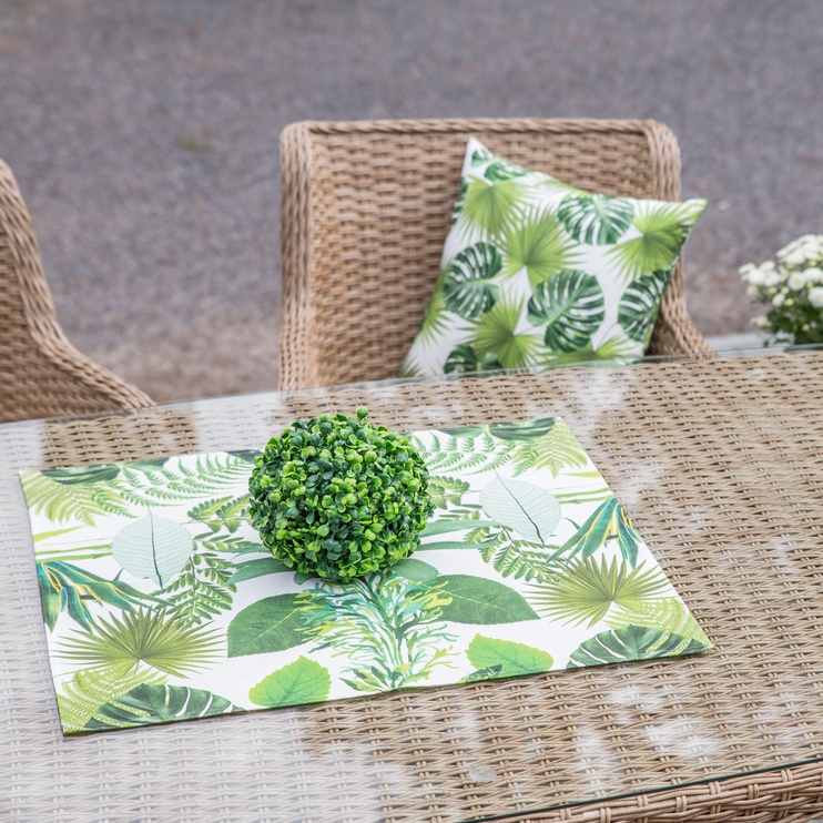 Home4you Linik Holly 58x65cm Green Leaves