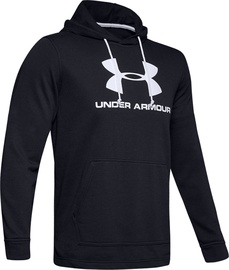 Under Armour Sportstyle Terry Logo Hoodie 1348520-001 Black M