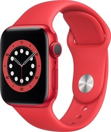Išmanusis laikrodis Apple Watch Series 6 GPS 40mm PRODUCT(RED) Aluminum PRODUCT(RED) Sport Band