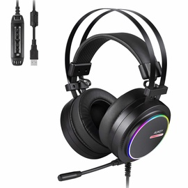 Aukey Virtual 7.1 RGB Gaming Headset Black