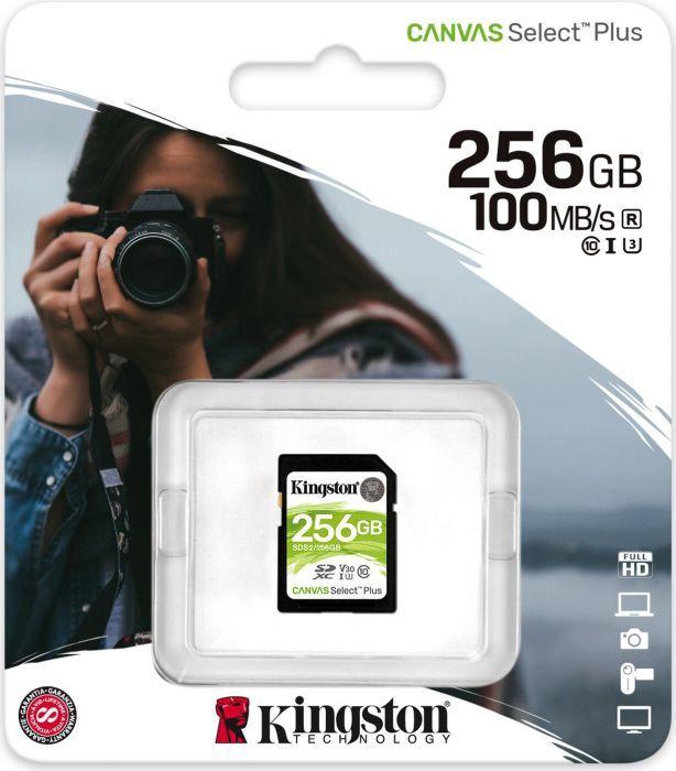 Kingston Canvas Select Plus 256GB SDXC UHS-I Class 10